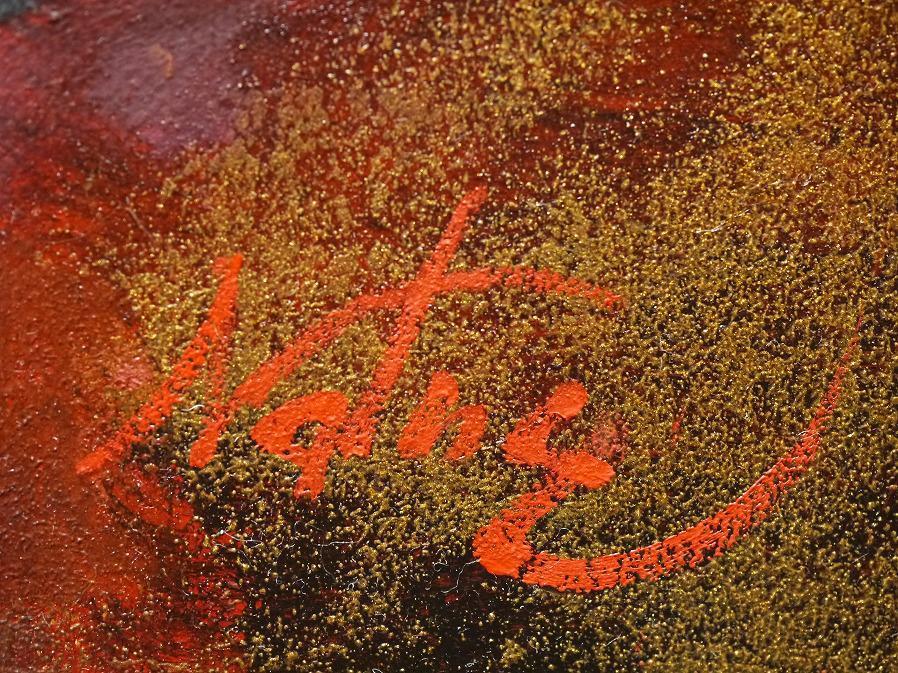 ■真作保証■【青柳ナツエ】 油彩画 F8号『白磁』■サインあり■額装:48×61.5cm■_画像7