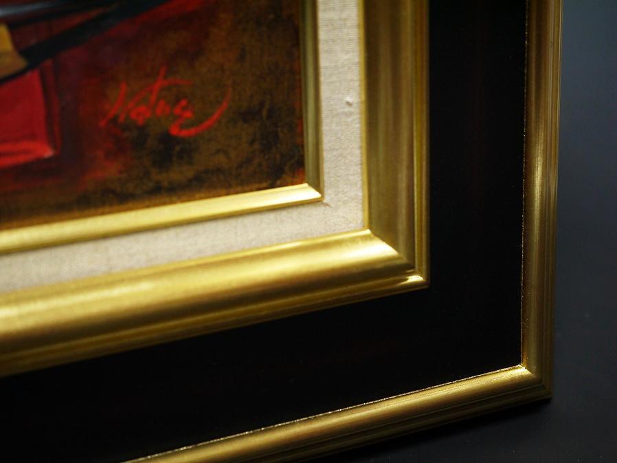 ■真作保証■【青柳ナツエ】 油彩画 F8号『白磁』■サインあり■額装:48×61.5cm■_画像9