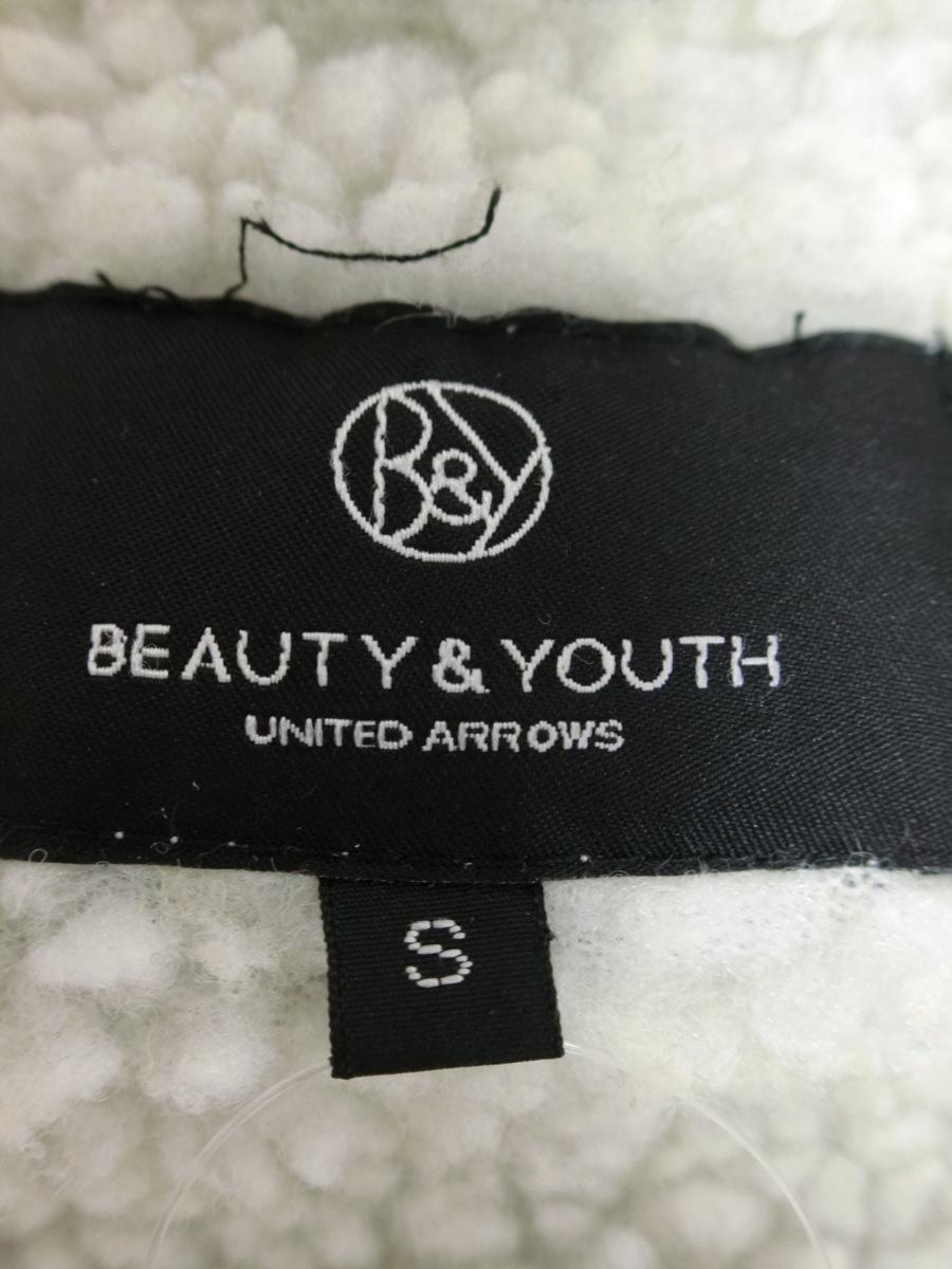 BEAUTY&YOUTH リアル ラクーン ファー ボア ライナー ミリタリー モッズ ジップ コート S ブラック UNITED ARROWS レディース SA1811-672_画像5