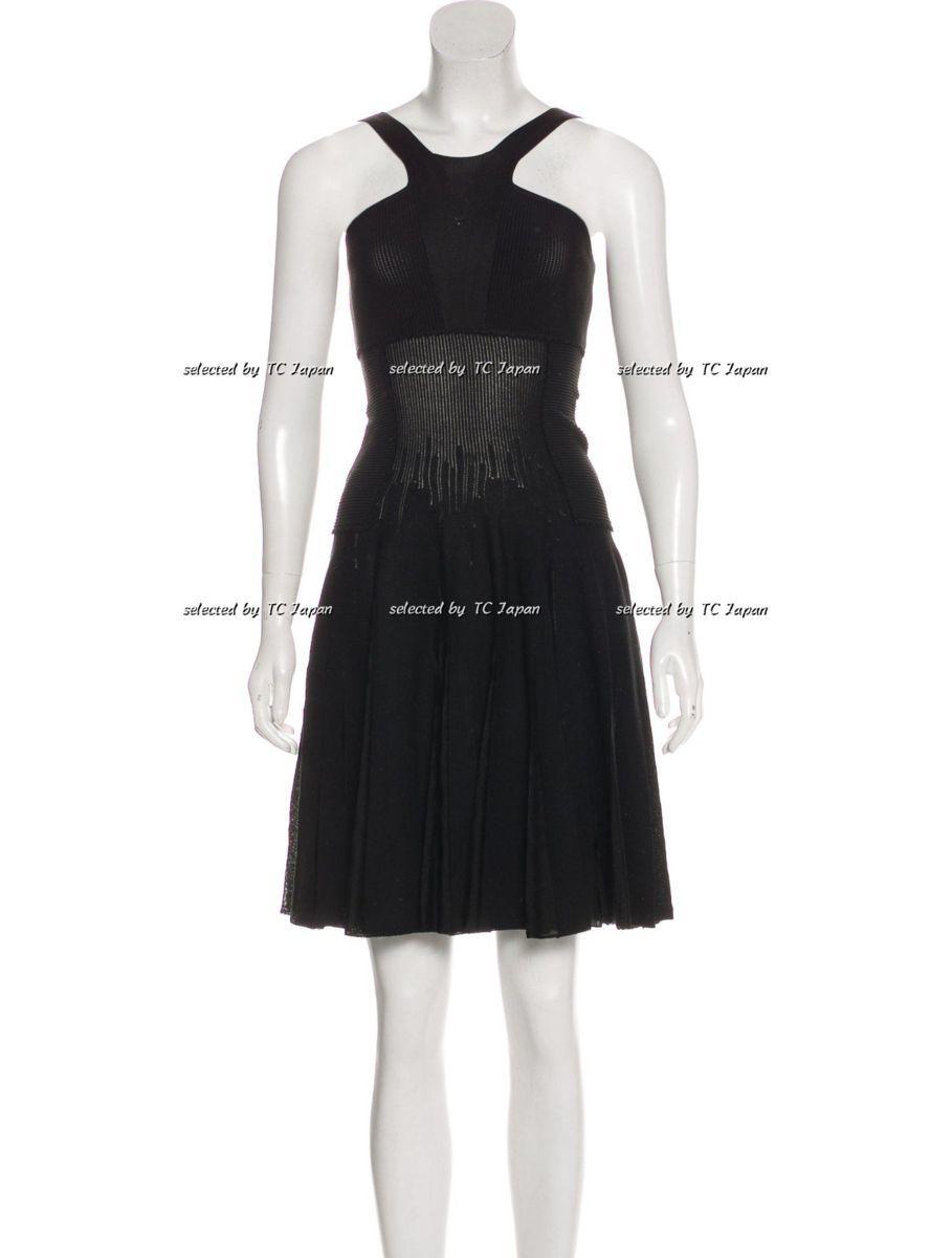 【CHANEL】新品紙タグ付き シャネル・ナオミワッツ着用 デザインの美しいブラック・ニット・ワンピース モデル着用 F36_画像3