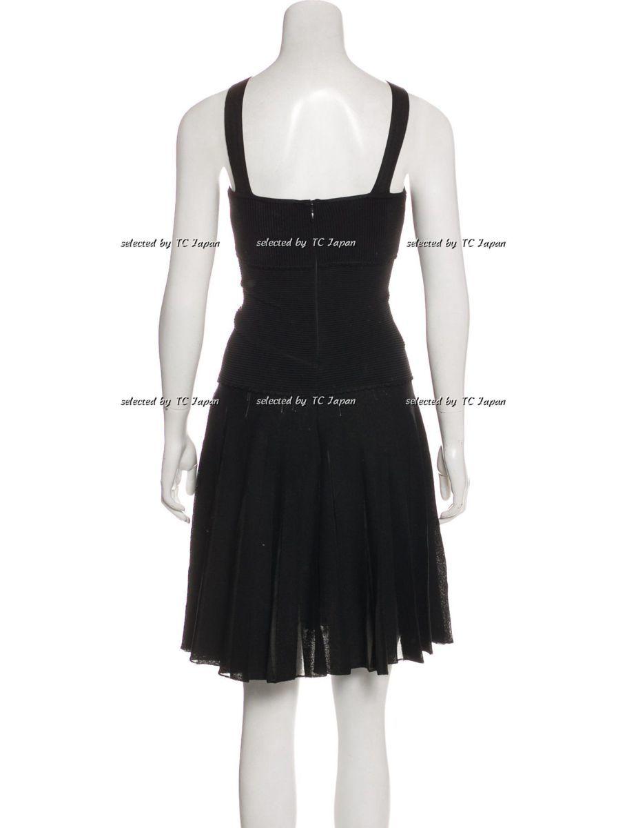 【CHANEL】新品紙タグ付き シャネル・ナオミワッツ着用 デザインの美しいブラック・ニット・ワンピース モデル着用 F36_画像4
