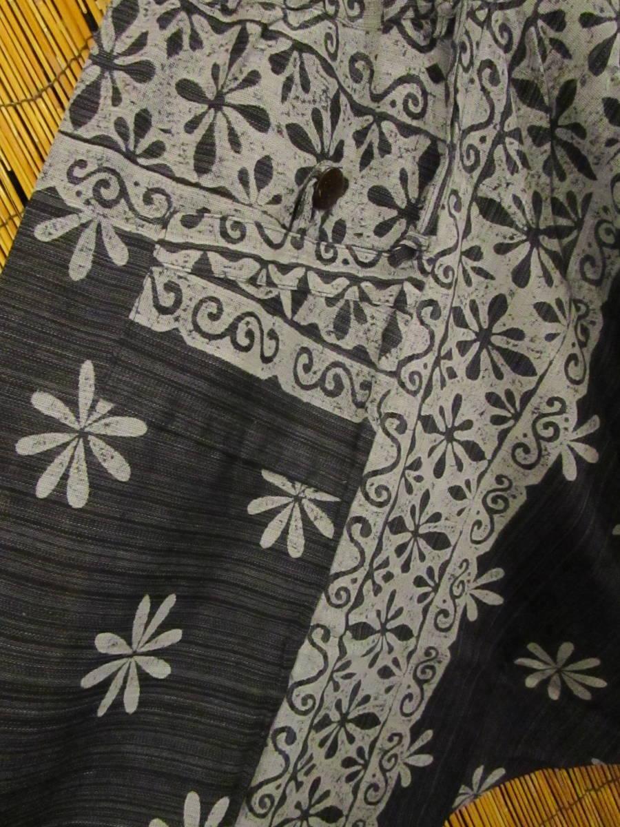 8新品 男女兼用 コットン素材 フラワープリント ふんわり サルエルパンツ エスニック アジアン ヒッピー 民族 旅人マジャム MAJAM_画像4