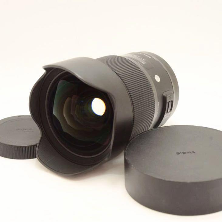 ランク:S SIGMA Art 20mm F1.4 DG HSM Canon EFマウント 美品!! KS19