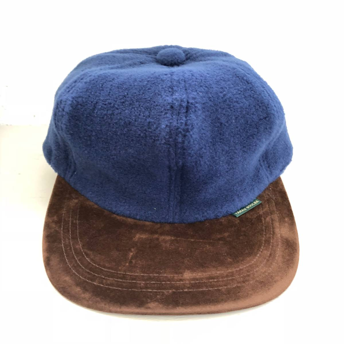 TARAS BOULBA タラスブルバ 帽子 キャップ フリースカントリーキャップ ネイビー 青系 L メンズ アシックス asics UFH350 日本製 未使用_画像1