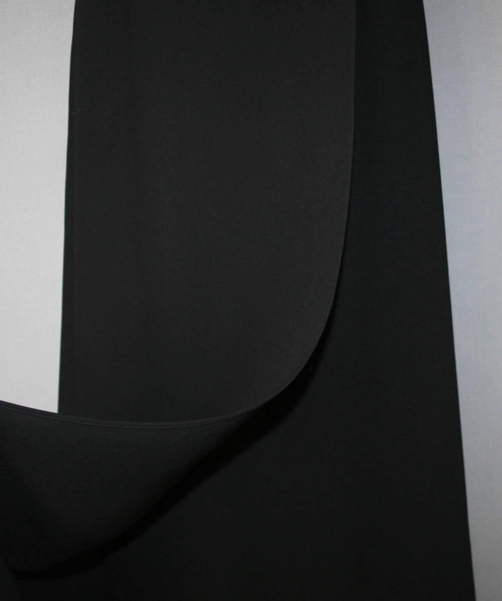 ★6434♪STELLA CROSS ブラックフォーマル ワンピーススーツ 巻きスカート風 ロング 7AR  喪服♪_画像4