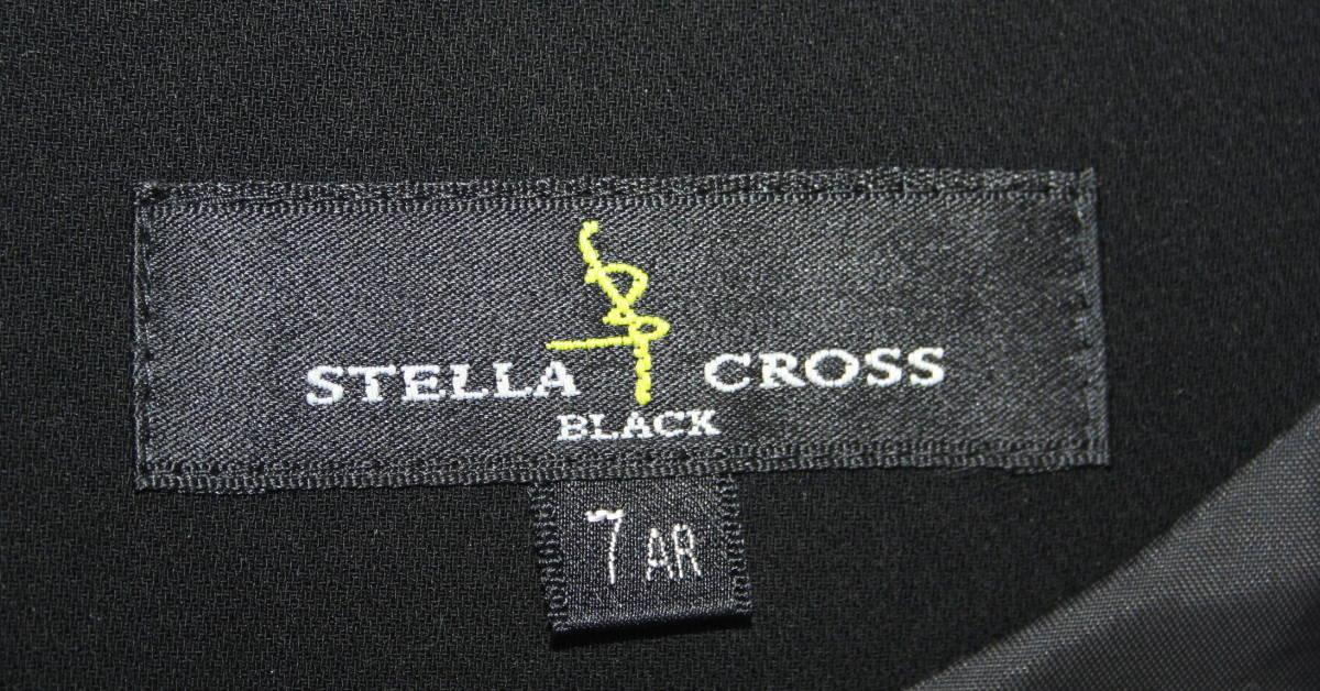 ★6434♪STELLA CROSS ブラックフォーマル ワンピーススーツ 巻きスカート風 ロング 7AR  喪服♪_画像8