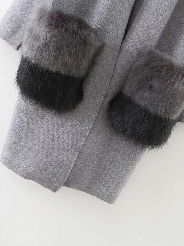 奢華優雅■2018秋季新款雜誌女士針織毛衣羊絨/大衣長款保暖大衣外套搭配羊毛到貨 編號:t608726842