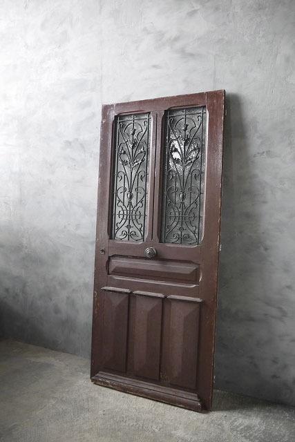 アンティーク フランス アイアン格子 ウッドドア A 扉 門 ゲート_画像1