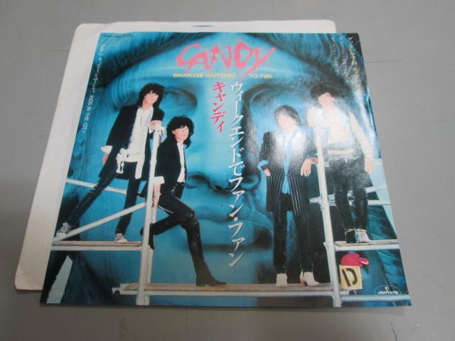 希少!見本盤!盤良品!キャンディ ウィークエンドでファン・ファン 7' CANDY ガンズ・アンド・ローゼズ Guns N' Roses ギルビークラーク