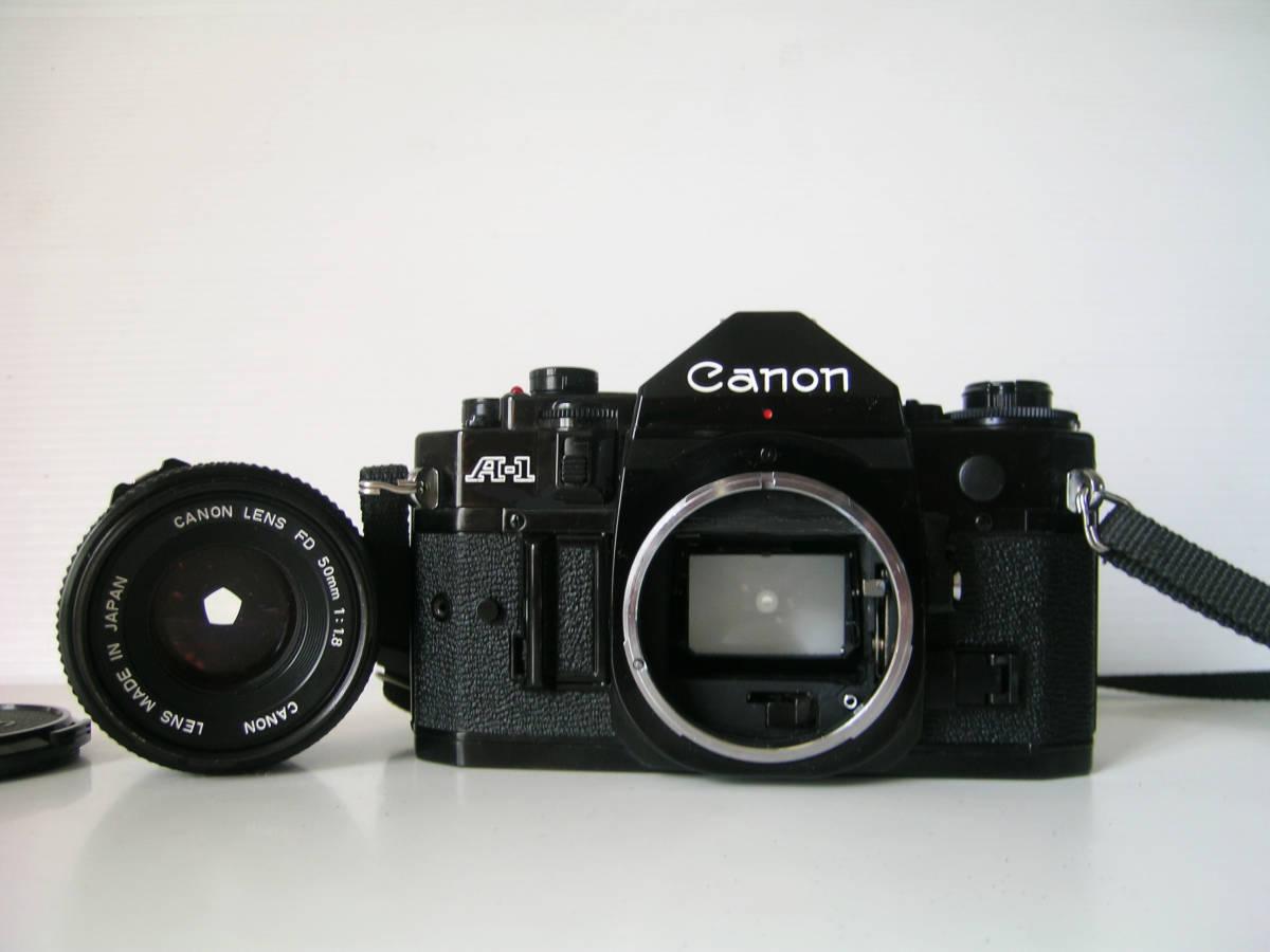 キヤノン CANON A-1(シャッター鳴き無し) 単焦点レンズ付き_画像4
