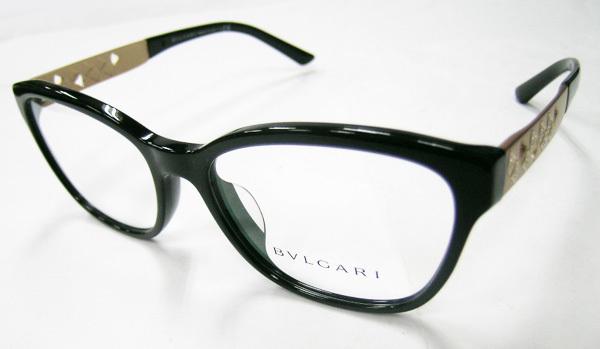 値下 BVLGARI ブルガリ 正規品 眼鏡フレーム BV4153-501 ブラック 黒縁 / マットゴールド 新品 フルリム ウェリントン メガネ_画像2