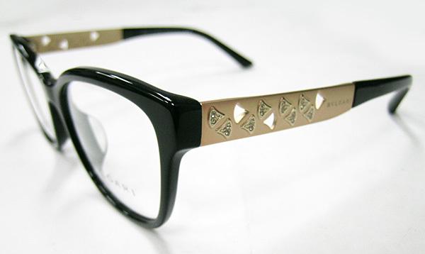 値下 BVLGARI ブルガリ 正規品 眼鏡フレーム BV4153-501 ブラック 黒縁 / マットゴールド 新品 フルリム ウェリントン メガネ_画像3