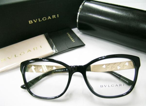 値下 BVLGARI ブルガリ 正規品 眼鏡フレーム BV4153-501 ブラック 黒縁 / マットゴールド 新品 フルリム ウェリントン メガネ_画像1