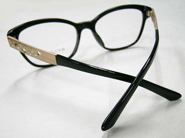 値下 BVLGARI ブルガリ 正規品 眼鏡フレーム BV4153-501 ブラック 黒縁 / マットゴールド 新品 フルリム ウェリントン メガネ_画像4