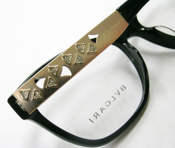 値下 BVLGARI ブルガリ 正規品 眼鏡フレーム BV4153-501 ブラック 黒縁 / マットゴールド 新品 フルリム ウェリントン メガネ_画像5