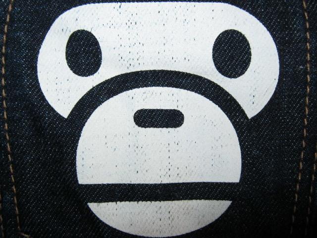 ★古着 BAPE KIDS by a bathing ape ベイプキッズ ア ベイシング エイプ デニムジーンズ 130 キッズ 子供服 日本製★_画像6