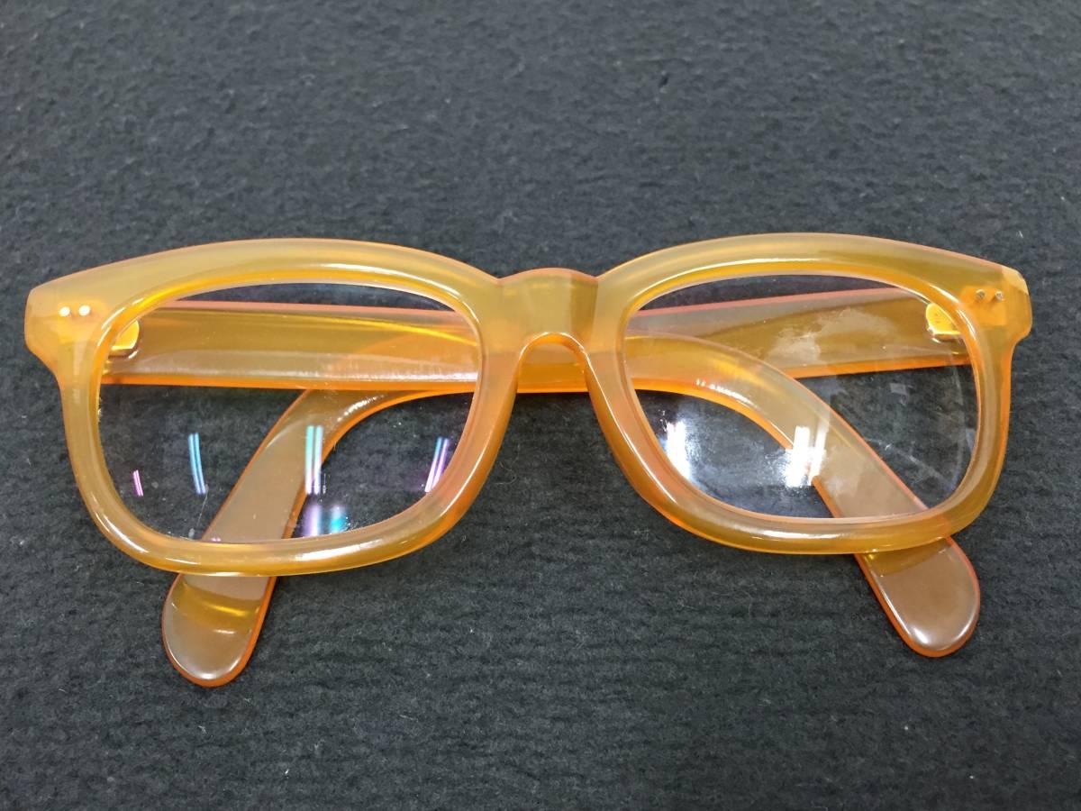 百貨店オーダー 高級国産肉厚本鼈甲眼鏡  K18金具 メガネフレーム 重量 77.2g 本