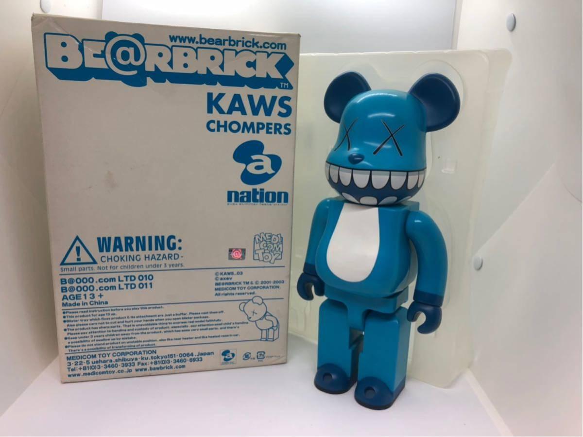 美品 KAWS BE@RBRICK 400% ベアブリック a-nation kaws companion メディコムトイ /BAPE カウズ Original Fake COMPANION