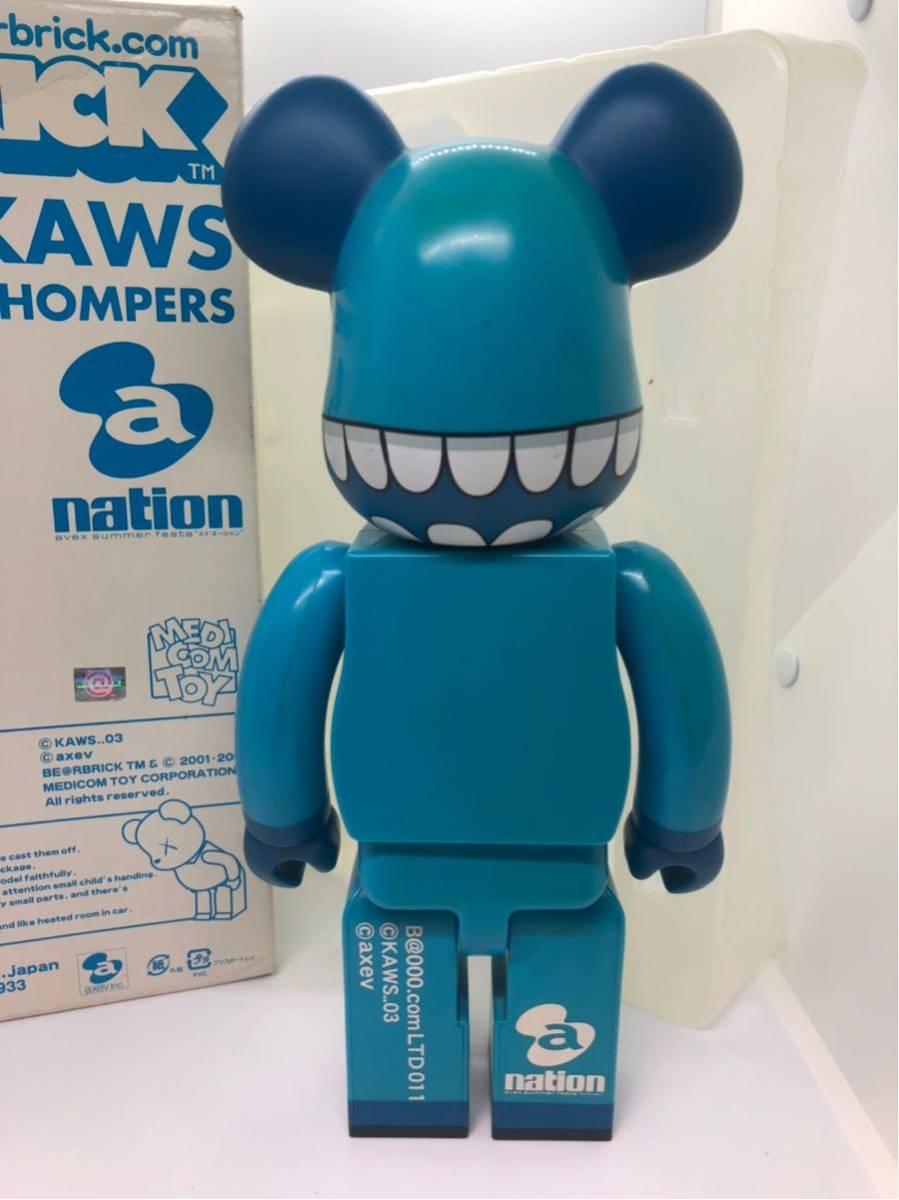 美品 KAWS BE@RBRICK 400% ベアブリック a-nation kaws companion メディコムトイ /BAPE カウズ Original Fake COMPANION_画像3