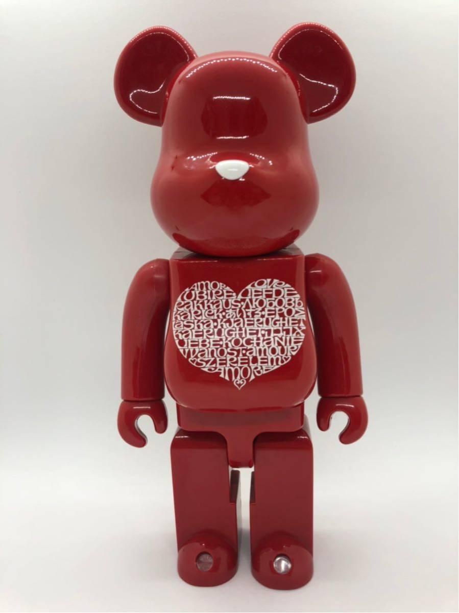 超美品 ベアブリック アレキサンダージラルド 400% BE@RBRICK Alexander Girard International Love Heart/KAWS BAPE_画像1