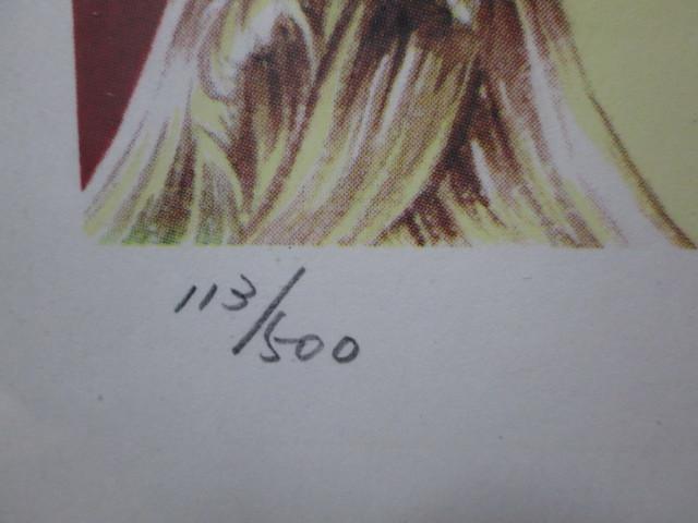 オルフェウスの窓 大事典 池田理代子直筆サイン入り カラー複製イラスト 2 <検索ワード> ベルサイユのばら 複製原画 セル画 原画 絵画_画像3