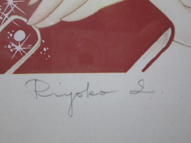 オルフェウスの窓 大事典 池田理代子直筆サイン入り カラー複製イラスト 2 <検索ワード> ベルサイユのばら 複製原画 セル画 原画 絵画_画像4