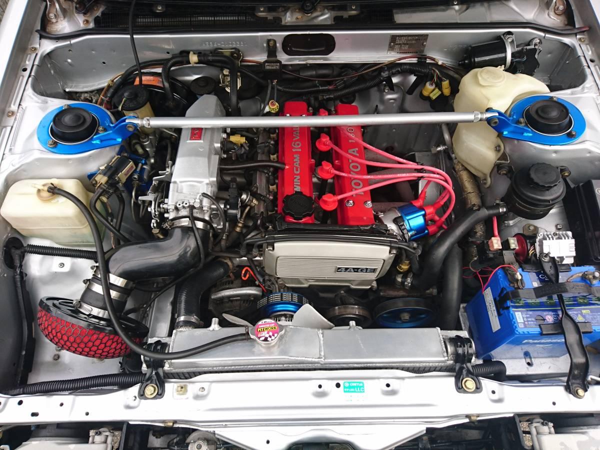 E-AE86 カローラレビン ディーラー整備車 エンジンOHから走行約8万km 昭和59年製 GTVからAPEXエンジン換装 エアコンR134a_画像4