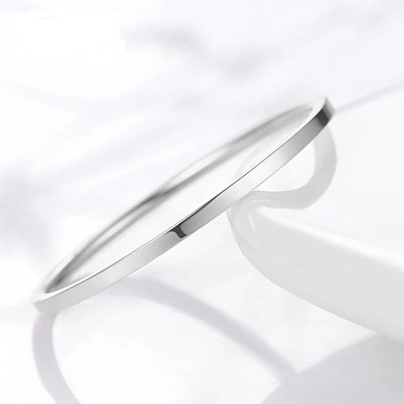 送料無料  メンズ サイズ サージカル ステンレス シンプル リング / ノン アレルギー フリー 婚約 結婚 マリッジ 指輪 シルバー r163b_画像1