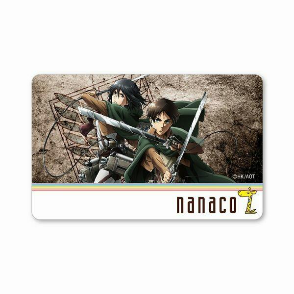 進撃の巨人 nanacoカード(エレン&ミカサ)+ベアブリック(リヴァイ) A-TYPE 新品未開封_画像2