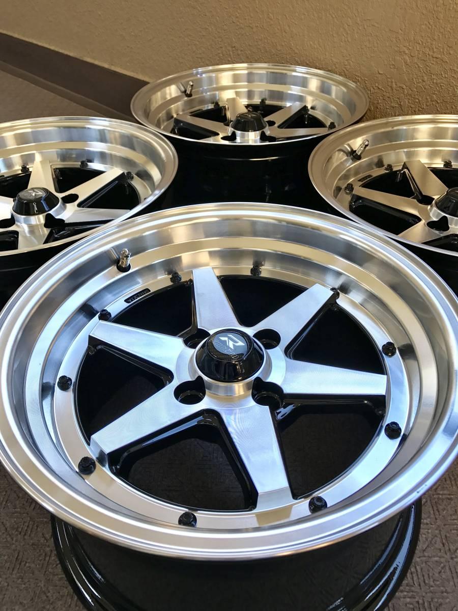 老車重塑汽車高速公路賽車轉輪15×8J / + 20 / PCD100新貨輪組4套深輪跑車其他定制車。 編號:h355743633