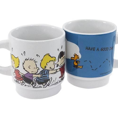★スヌーピースタッキングマグカップ(F)(ピーナッツ)(17)_左側