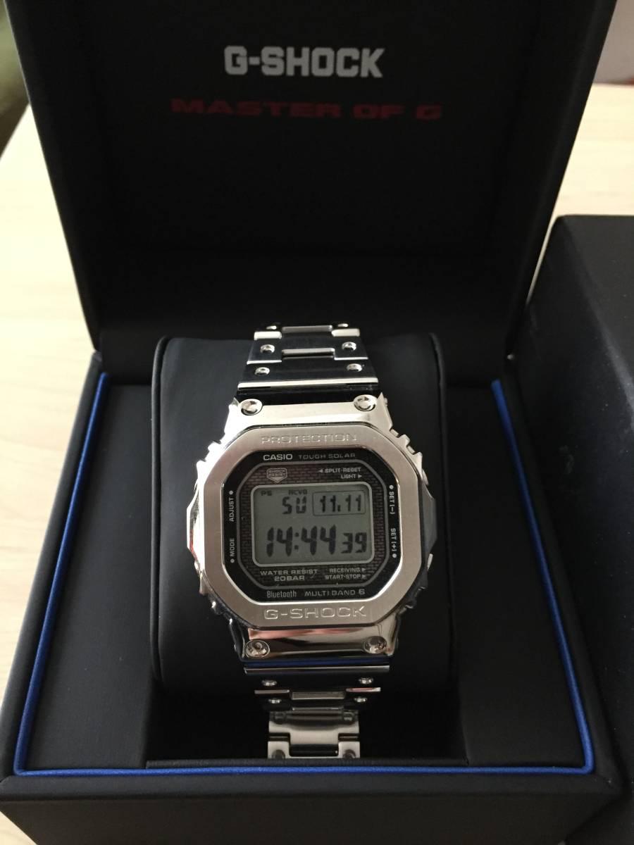 卡西歐G  -  SHOCK GMW  -  B 5000 D  -  1 JF全金屬銀卡西歐 編號:u237760018