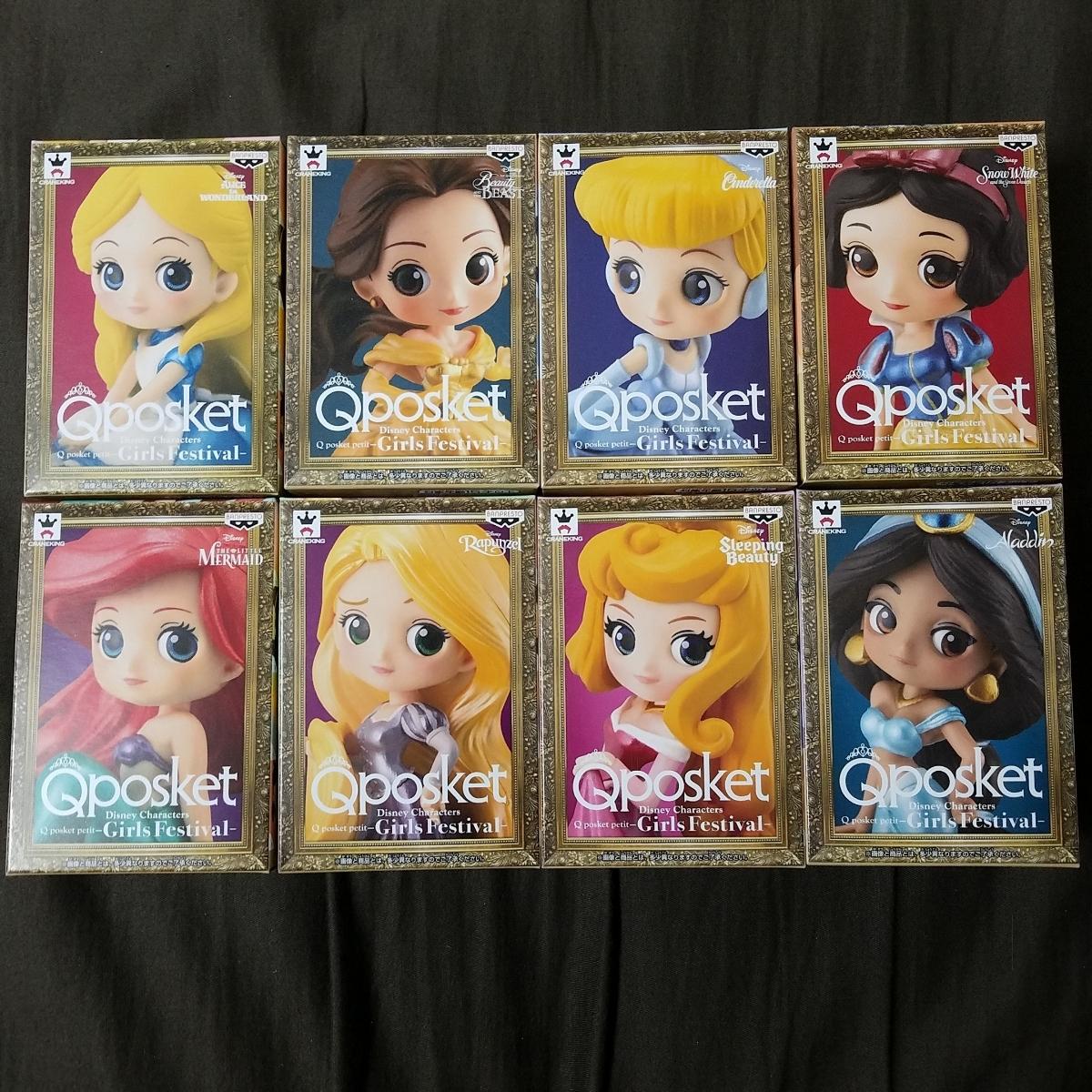 Disney Characters Q posket petit-Girls Festival 全8種 新品未開封 編號:r285153975