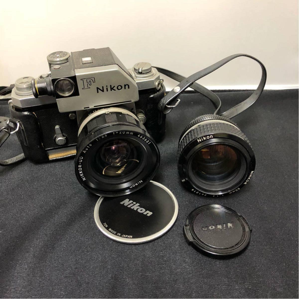 ♯ NIKON ニコン 一眼レフ カメラ F nikkor-ud 1:3.5 20mm nikkor 50mm 1:1.2 レンズ2本セット