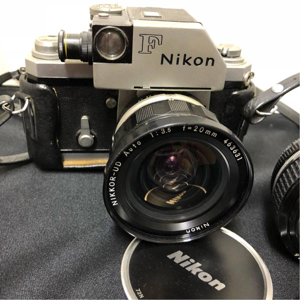 ♯ NIKON ニコン 一眼レフ カメラ F nikkor-ud 1:3.5 20mm nikkor 50mm 1:1.2 レンズ2本セット_画像2