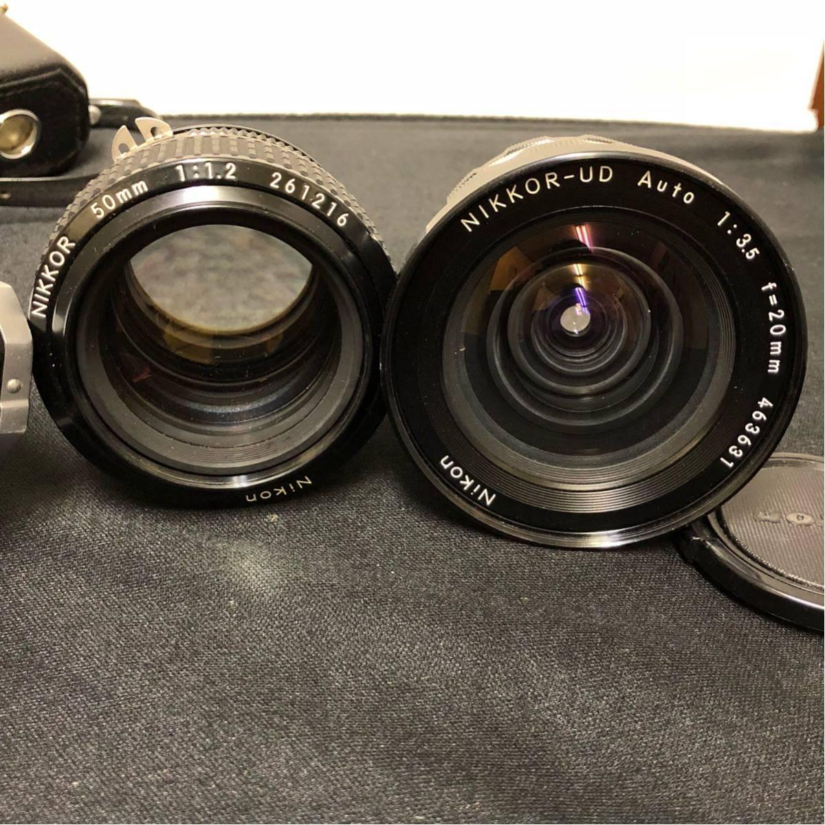 ♯ NIKON ニコン 一眼レフ カメラ F nikkor-ud 1:3.5 20mm nikkor 50mm 1:1.2 レンズ2本セット_画像7