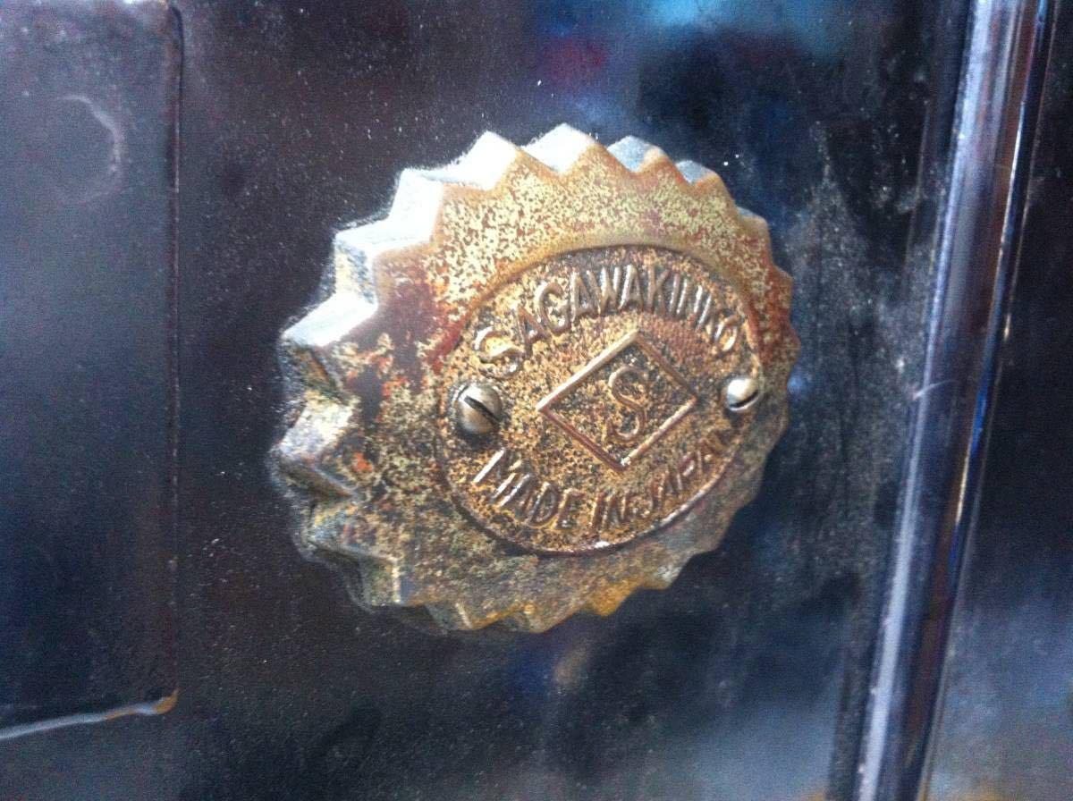 ◆ (注意:開錠不可) 引き取り限定 希少 昭和初期~戦前 SAGAWAKINKO サガワ アンティーク レトロ 金庫 ディスプレイ 店舗 飾り インテリア