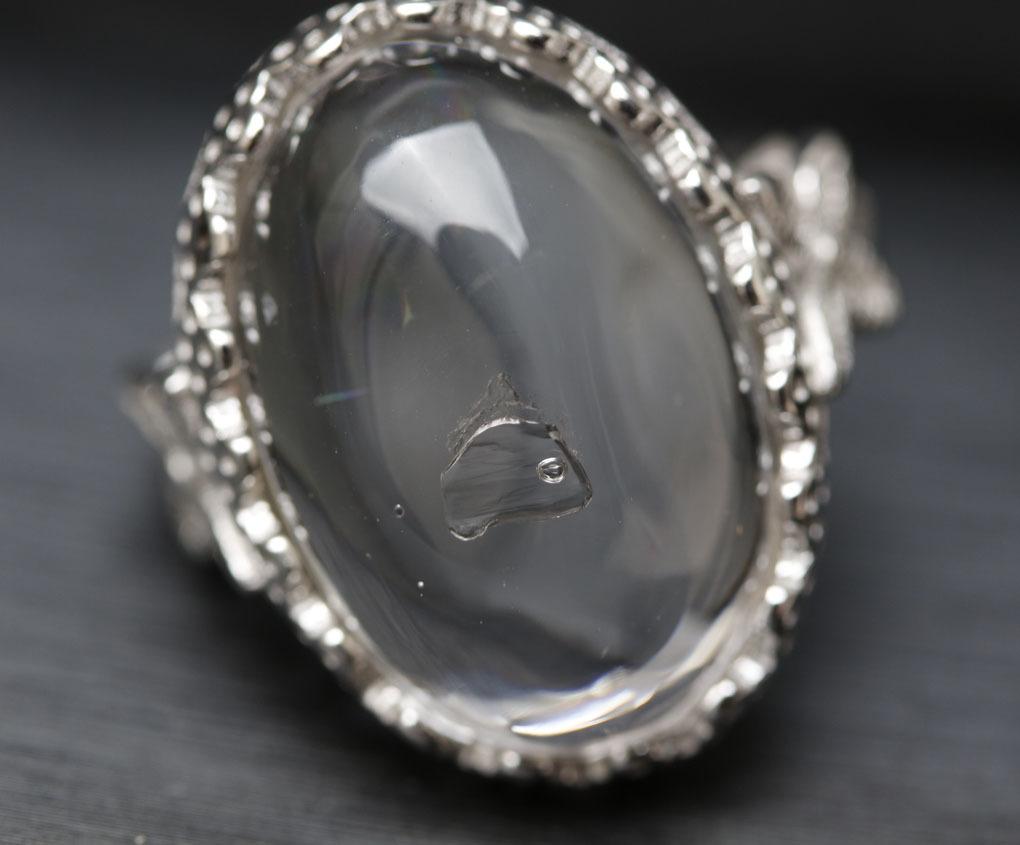 【古憶】即決!超高品質 水入り水晶指輪 太古の記憶 水量大 面白い石 パワーストーン シルバー925 天然水晶 箱入り/sdjz39_画像3