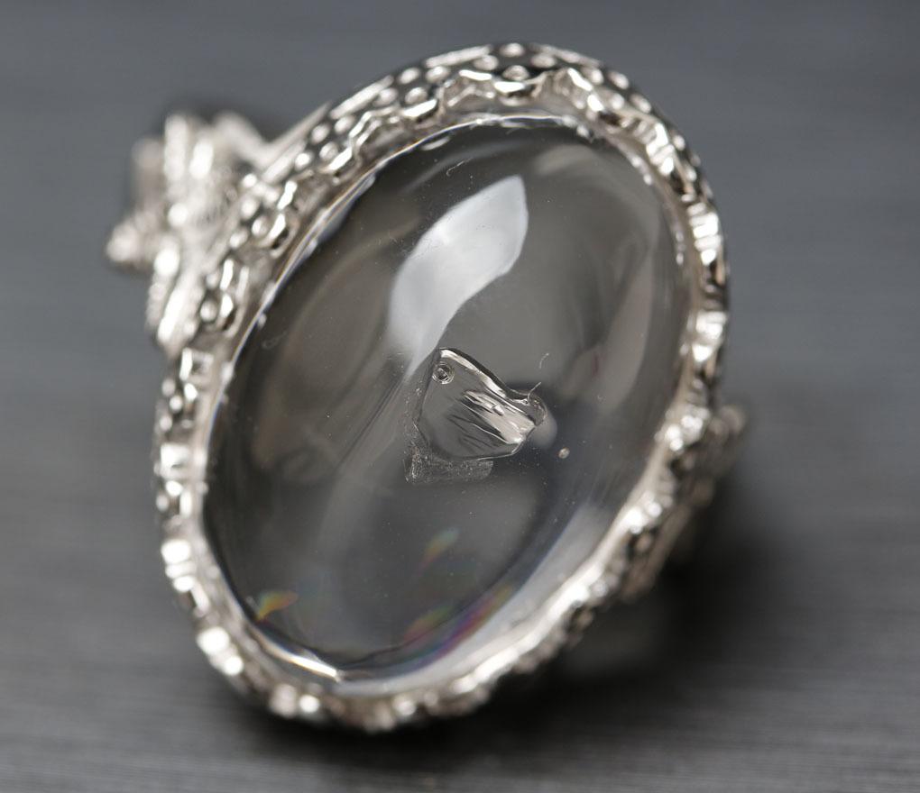 【古憶】即決!超高品質 水入り水晶指輪 太古の記憶 水量大 面白い石 パワーストーン シルバー925 天然水晶 箱入り/sdjz39_画像2