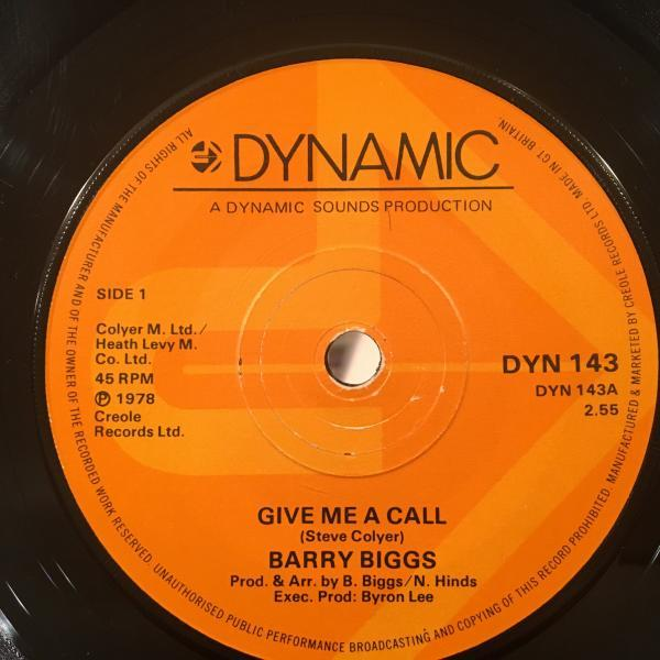 ★Barry Biggs/Give Me A Call★メロウLOVERS隠れ名作!7inch 45_画像1