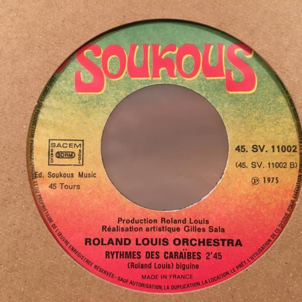☆Roland Louis Orchestra/Play Up☆FRENCH CARIBBEAN LATIN FUNK!7inch 45_画像3