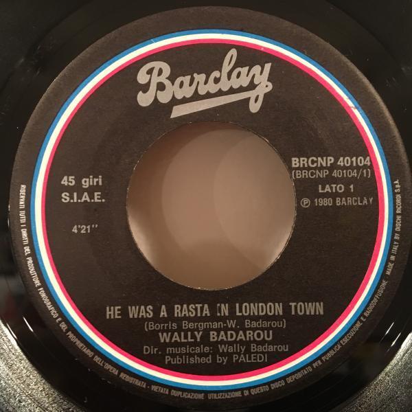 ☆Wally Badarou/He Was A Rasta In London Town☆AFRO COSMIC DISCO!7inch 45_画像2