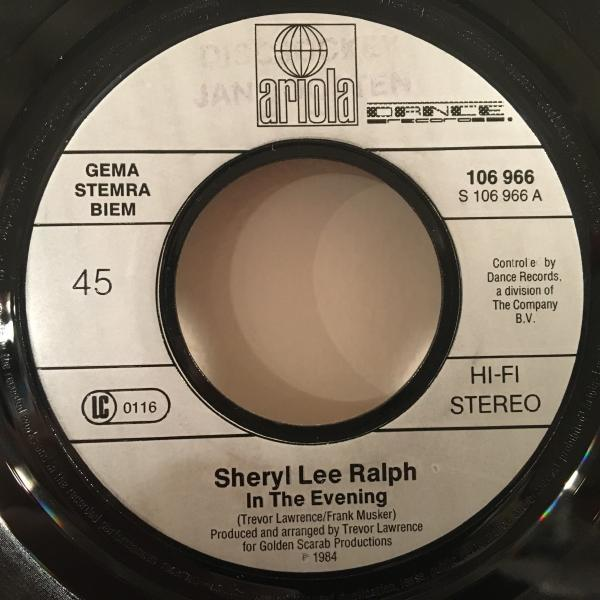 ☆Sheryl Lee Ralph/In The Evening☆SYNTH BOOGIE!HUNEEプレイ!7inch 45_画像2