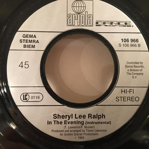 ☆Sheryl Lee Ralph/In The Evening☆SYNTH BOOGIE!HUNEEプレイ!7inch 45_画像3