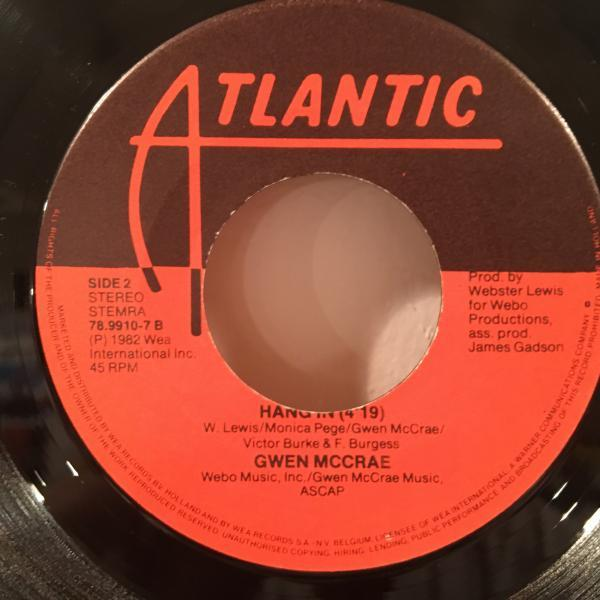 ☆Gwen McCrae/Keep The Fire Burning☆KILLER BOOGIE CLASSIC!7inch 45_画像3