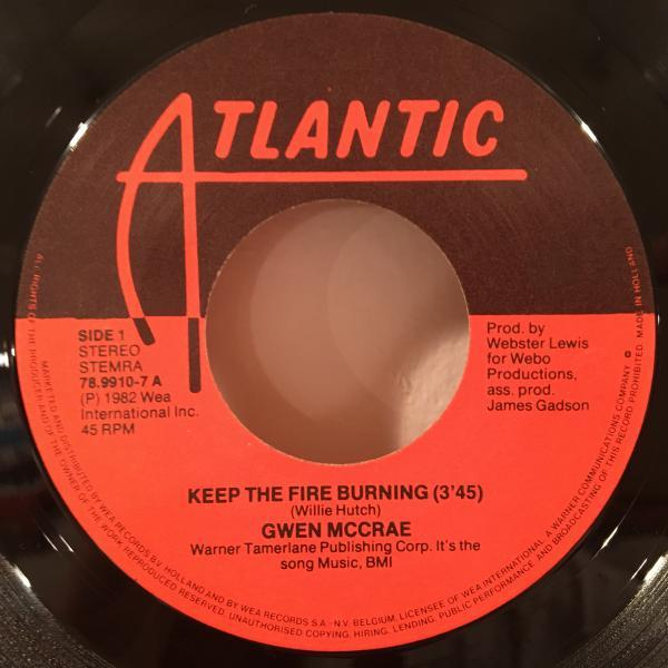 ☆Gwen McCrae/Keep The Fire Burning☆KILLER BOOGIE CLASSIC!7inch 45_画像2