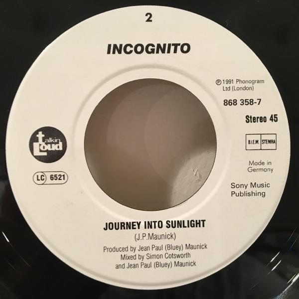 ☆Incognito Featuring Jocelyn Brown /Always There☆UK ACID JAZZ/R&B名作!7inch 45_画像3
