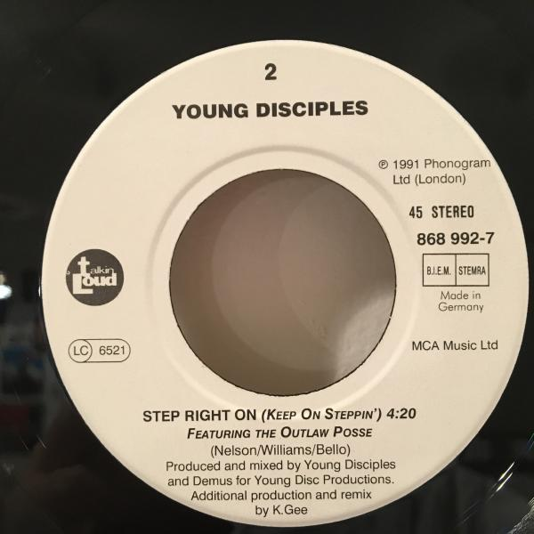 ☆Young Disciples/Get Yourself Together☆UK ACID JAZZ/R&B名作!7inch 45_画像3