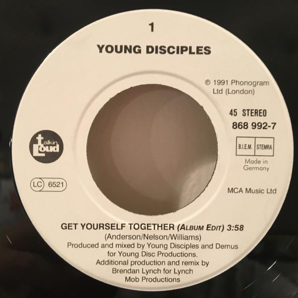 ☆Young Disciples/Get Yourself Together☆UK ACID JAZZ/R&B名作!7inch 45_画像2