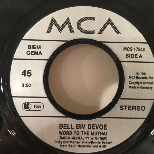 ☆Bell Biv DeVoe/Word To The Mutha☆R&B NEW JACK SWING名曲!7inch 45_画像2